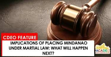 about the martial law
