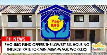 06152017 - PAG-IBIG 3% INTEREST RATE