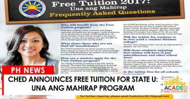 06162017 - CHED FREE TUITION 2017