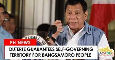 Duterte guarantees Bangsamoro territory