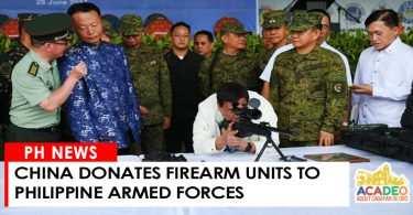 CHINA DONATES FIRE AMRS