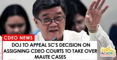 DOJ to appeal SC decision on assigning CdeO courts handle Maute cases