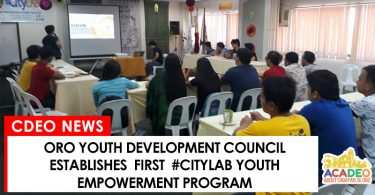 Oro Youth development council establishes #CityLab