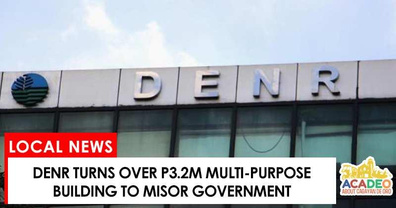 denr turns over multi-purpose building to misor gov