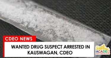 Drug suspect arrested in kauswagan, cdeo