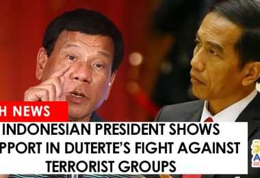 Widodo shoes support in Duterte's fight against terrorists