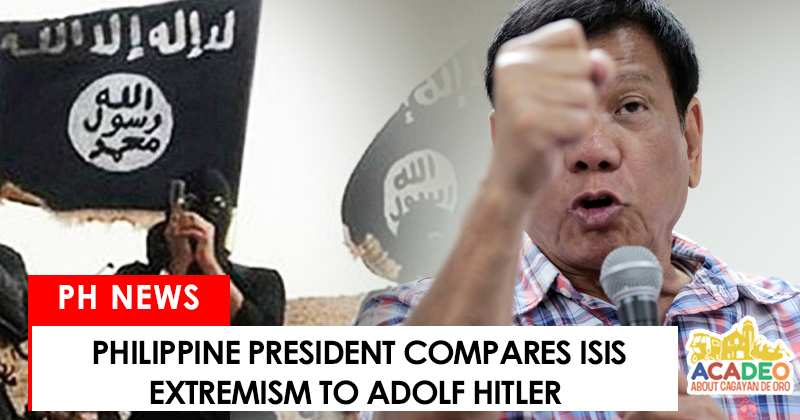 Duterte compares ISIS to Hitler