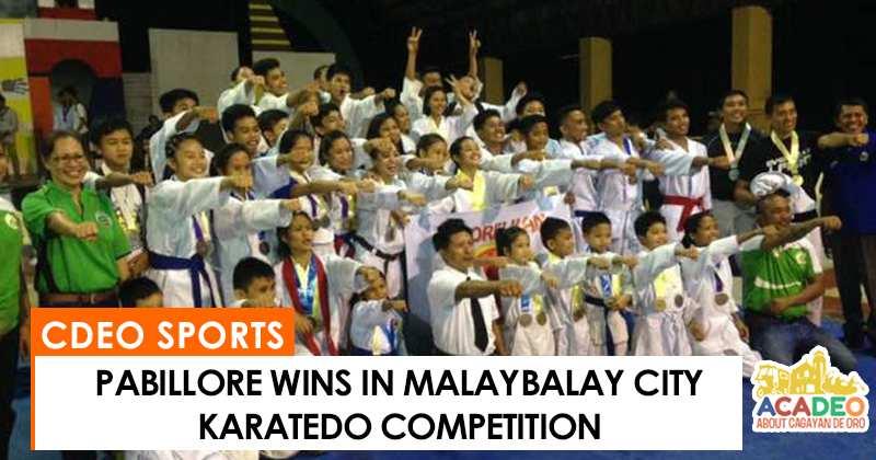 Pabillore wins in Malaybalay karatedo tilt