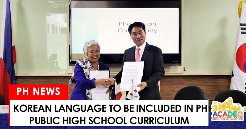 Korean language to be included in public high school curriculum