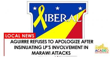 aguirre refuses to apologize for insinuating lp involvement in Marawi siege