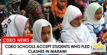 Marawi students and pupils accepted in cdeo schools