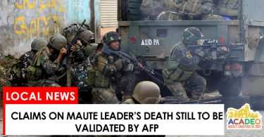 Maute leader death reports still to be validated