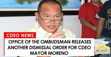 Another dismissal order released against Mayor Moreno