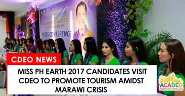 Miss Philippines Earth 2017 candidates visit CDO