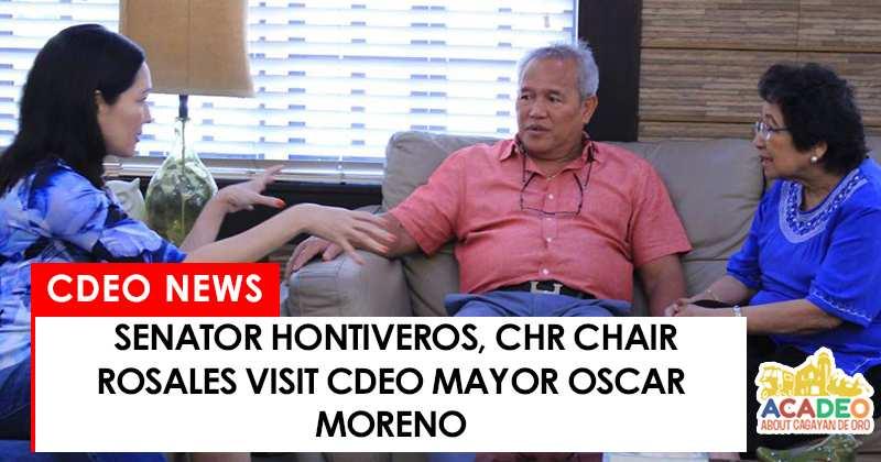 Rosales and Hontiveros visit Oca