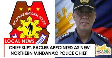 Chief Supt. Pacleb appointed as new Northern Mindanao police chief