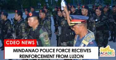 Mindanao police receives reinforcement from Central Luzon