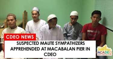 5 men suspected maute sympathizers arrested at macabalan pier