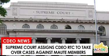 CdeO RTC to handle cases against Maute members