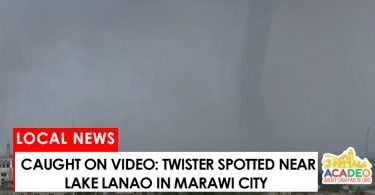 twister spotted in Marawi City