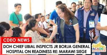 Health Secretary Ubial inspects JR Borja General Hospital