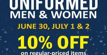 SM Stores 10% discount for uniformed men and women