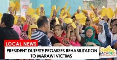 Duterte promises rehab to Marawi City siege victims