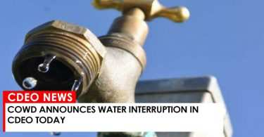 COWD WATER INTERRUPTION