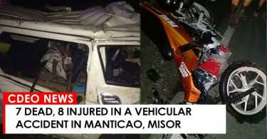 MANTICAO ROAD ACCIDENT