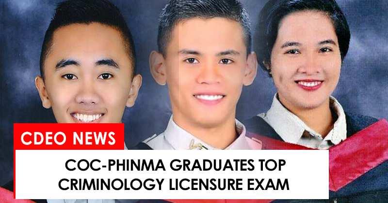 COC-PHINMA grads top Criminology Licensure Exam
