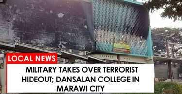 Military takes over terrorist hideout Dansalan College