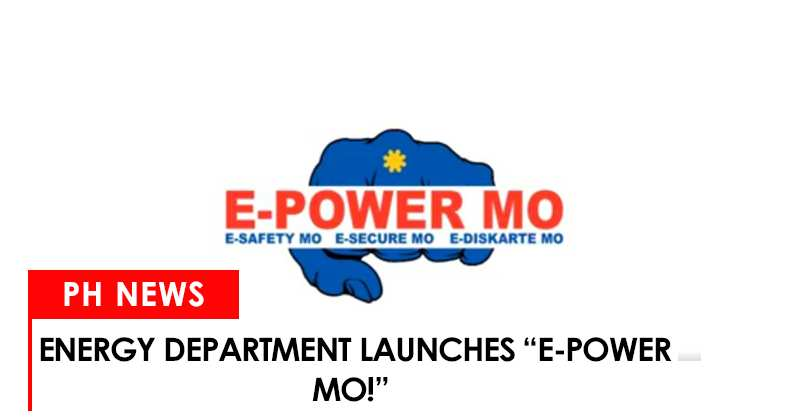 """Energy department launches """"E-Power Mo!"""""""