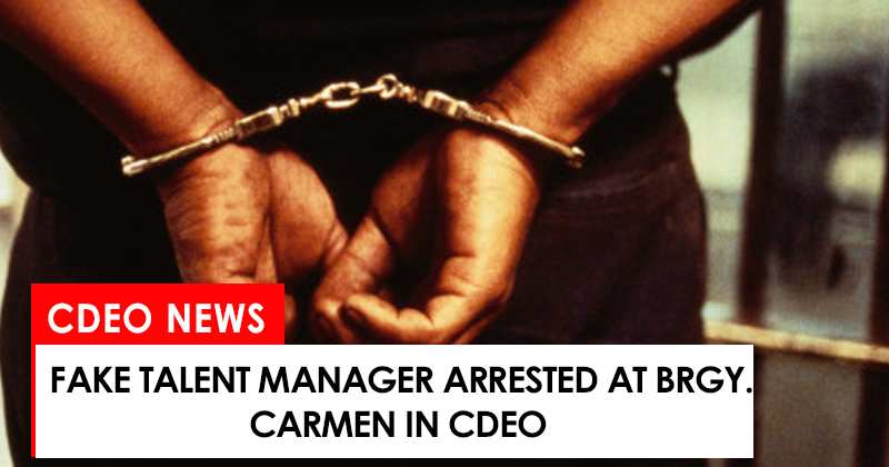 fake talent manager arrested in Brgy. Carmen