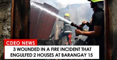 3 wounded in fire incident at Barangay 15