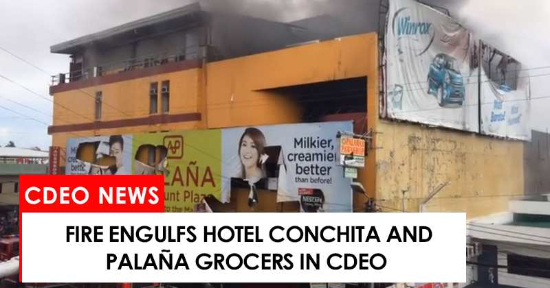 Fire engulfs hotel conchita