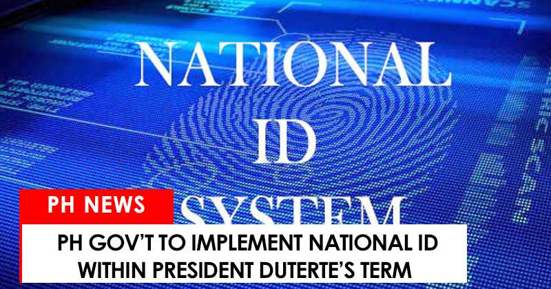 National ID to be implemented within duterte's term
