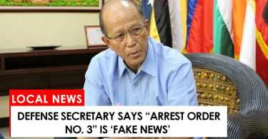 """Justice Secretary says """"Arrest Order No. 3"""" is fake news"""