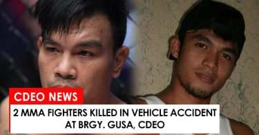2 mma fighters killed in vehicle accident in Brgy. Gusa