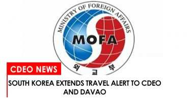 South Korea extends travel alert to CdeO and Davao