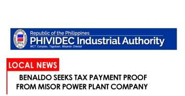 Benaldo seeks tax payment proof of MisOrf power plant