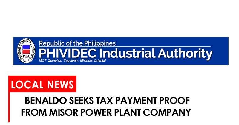Benaldo seeks tax payment proof of MisOrf power plant