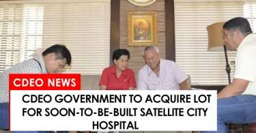 CdeO government to acquire lot for son-to-rise satellite city hospital