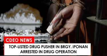 Top-listed drug personality in Iponan arrested in drug operation