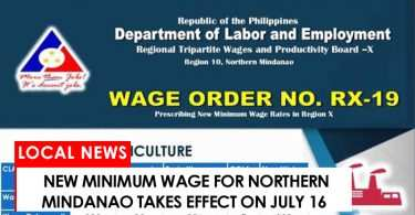 DOLE releases new minimum wage order