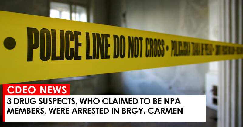3 drug suspects, who claimed to be NPA members, were arrested in Brgy