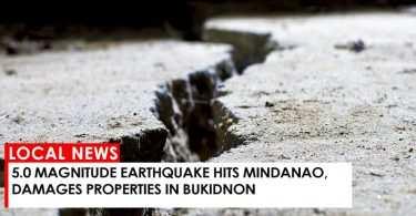 5.0 magnitude earthquake hits Mindanao, damages properties in Bukidnon