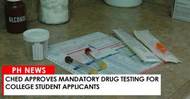 CHED approves mandatory drug testing for college student applicants