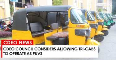 CdeO Council considers allowing tri-cabs to operate as PUVs