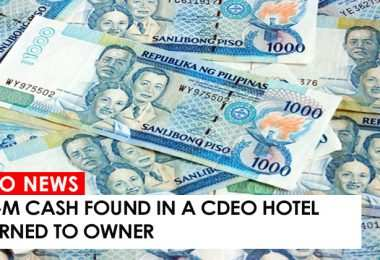 P2.6-M cash found in a CdeO hotel returned to owner