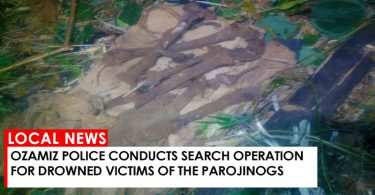 Ozamiz police conducts search operation for drowned victims of the Parojinogs